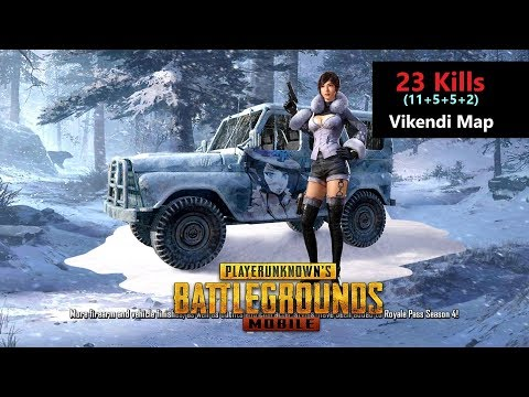[Hindi] PUBG Mobile   '23 Kills' With Squad In Vikendi Map Chicken Dinner
