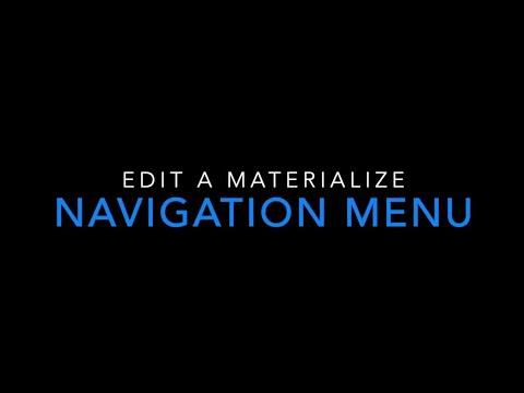 Edit A Materialize Menu