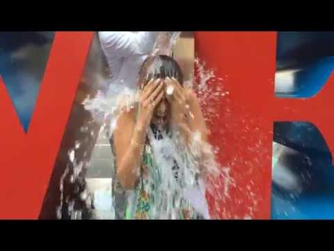 Miss Universe 2013 does the ALS Ice Bucket Challenge!