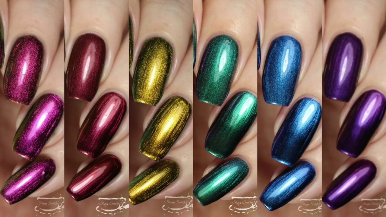 Swatches | Metallux Collection by LeChat Nails - YouTube