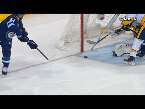 Pekka Rinne makes unbelievable save with knob of stick