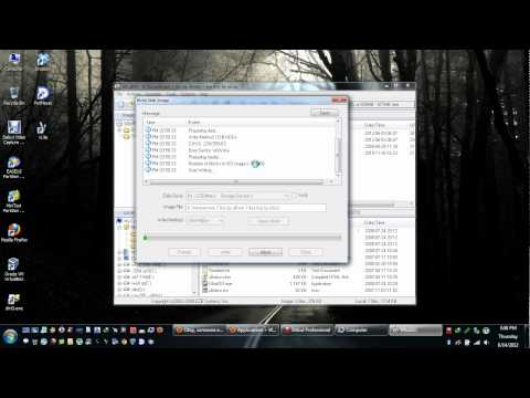 Tutorial how to easily burn or write bootable iso to sd card or usb device.avi