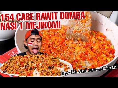 PERJUANGAN MUKBANG NASI SAMBEL 154  CABE RAWIT!