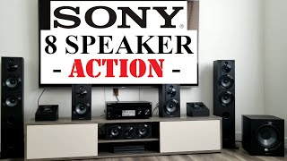 SONY 7.1 Surround Sound System WHOLE DISPLAY SETUP 8 Speakers 7.2 Channel STR-DN1080