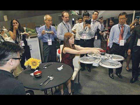 Fully Autonomous Flying Robots for Restaurants - Infinium-Serve