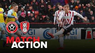 Blades 2-0 Rotherham - match action