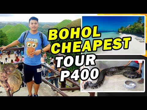 Bohol Cheapest Tour P400 // Panglao Beach // Chocolate Hills // Loboc River// Pythons // Tarshier