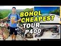 Bohol Cheapest Tour P400 // Panglao Beach // Chocolate Hills // Loboc River// Pythons // Tarshier