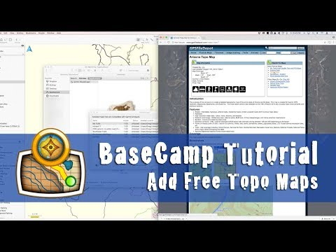 How to add free topo maps to Garmin BaseCamp - YouTube