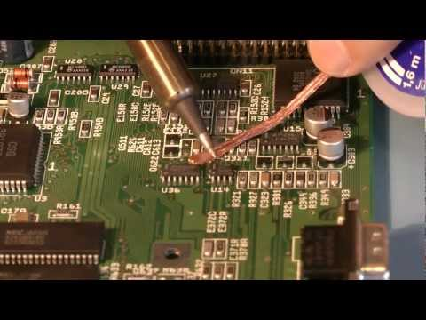 Replacing a surface mount capacitor