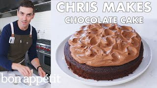 Chris Makes Easy Chocolate Cake | From the Test Kitchen | Bon Apptit