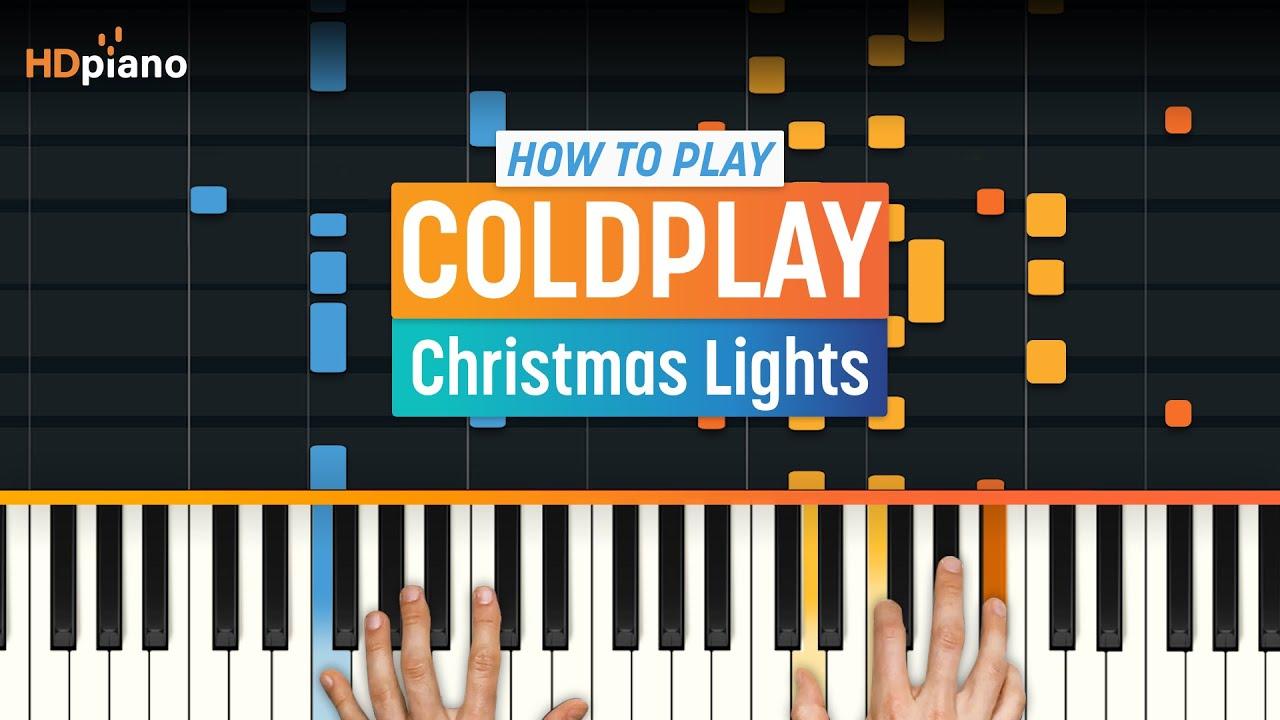 christmas lights coldplay chords # 33