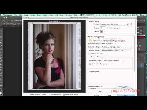 Using Printer Color Profiles Photoshop CC CS6 Canon Mac
