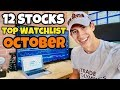 Top 12 Stocks For October 2018