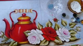 Pintando Chaleira Vermelha com Rosas Part. 3 Final – Ivanice Isabel