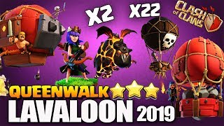 QueenWalk Lavaloon With Slammer & Blimp | LavaLoon is still the Best TH10 Attack in Clash of Clans