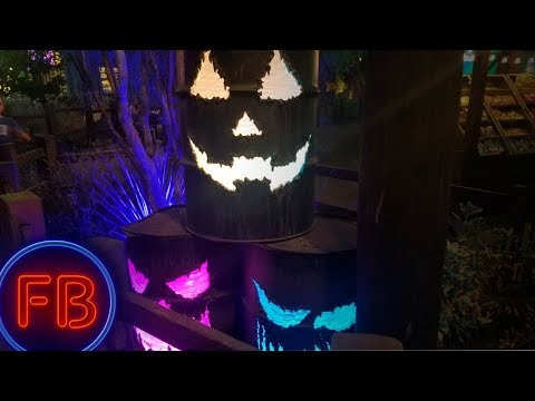 NEW Cars Land halloween decorations at night are FANTASTIC!