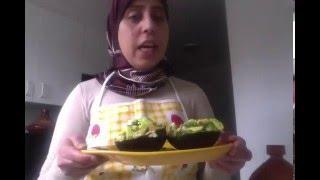 Avocado and shrimps salad  salade d