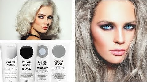 Colormask Silver Coloured Blonde hair Care. Graphite, Platinum and Pearl