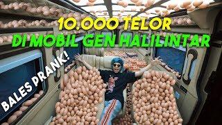 BALES PRANK 10.000 Telor di MOBIL Gen Halilintar 😱😱