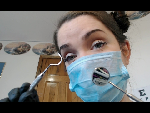 ASMR Dentist - Light Scratching, Tapping, Gloves and Touching
