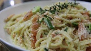 Smoked Salmon Spaghetti