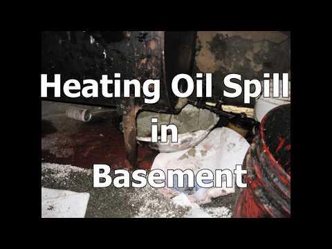 Heating Oil Spill in Basement