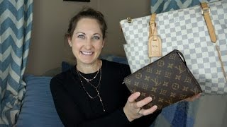 Whats in my Bag Wednesday - Louis Vuitton Totally & Toiletry 19 to Alma PM