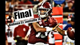 Alabama Crimson Tide Football: Tua Tagovailoa shines in Crimson Tide's 51-14 win over Louisville