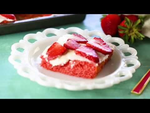 Simple Strawberry Jello Cake Recipe