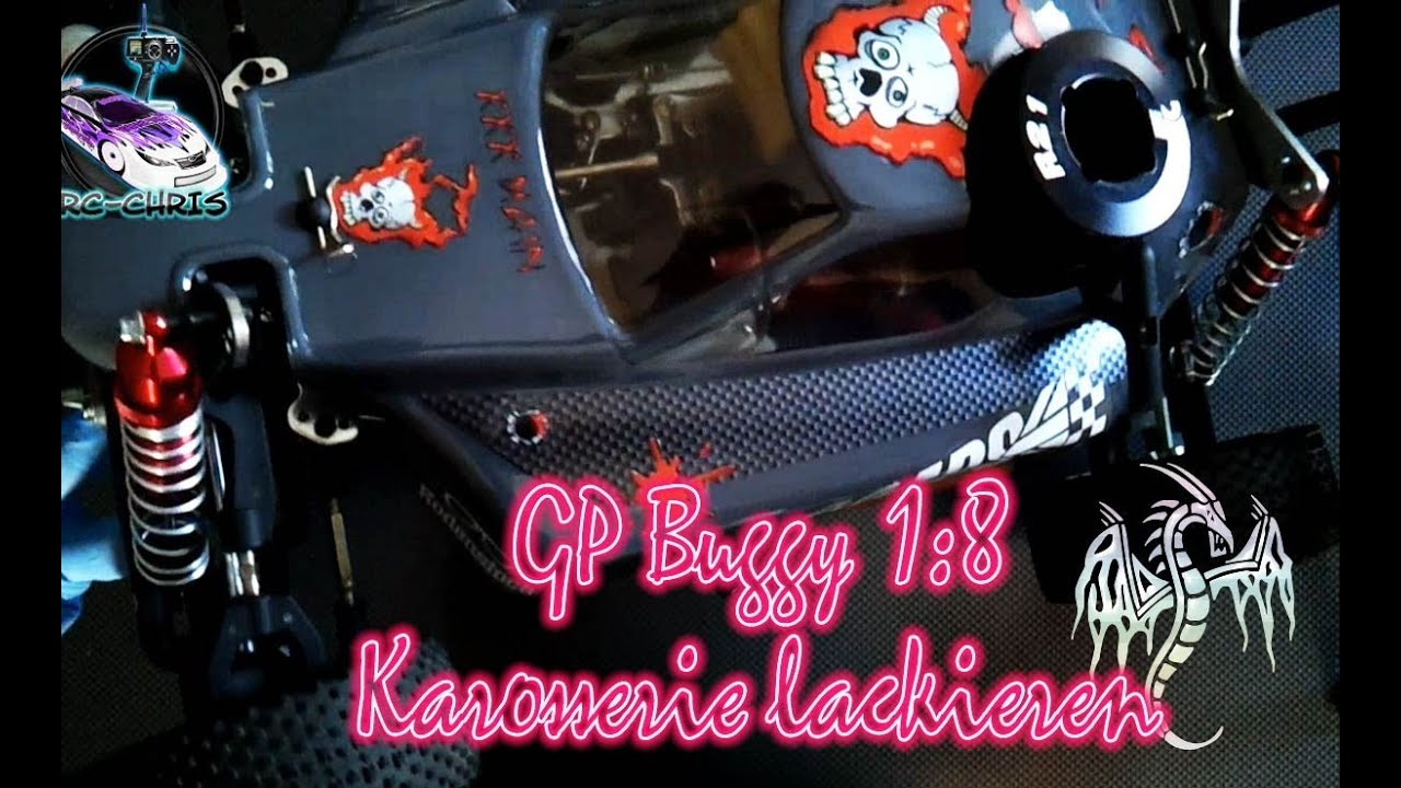 gp buggy tuning karosserie lackieren 1 8 reely youtube. Black Bedroom Furniture Sets. Home Design Ideas