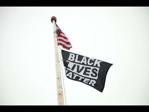 Montpelier High School raises a Black Lives Matter flag