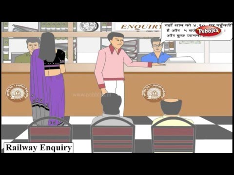 Learn Hindi Through English : Conversation for Railway Enquiry | Hindi Speaking | Hindi Grammar