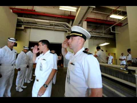 Naval Academy Plebes try to learn to salute