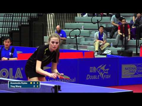 2016 NCTTA Nationals Women's Singles Final - Ying Wang (Ohlone) vs Anastasiia Rybka (Wesleyan)