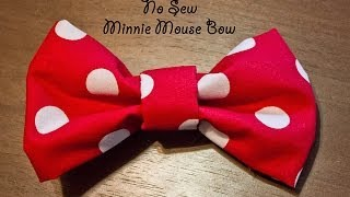 "No Sew ""Minnie Mouse"" Bow"