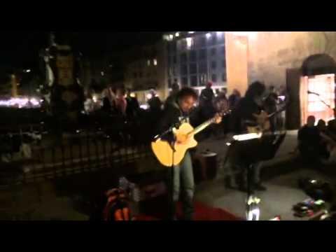 Fabulous street music band ; Florence ( Ponte Vecchio) , Italy