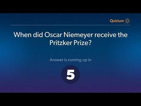 When did Oscar Niemeyer receive the Pritzker Prize?   Oscar Niemeyer Quiz