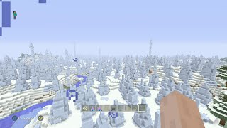 Minecraft Console - Best Classic Seed EVER! - Biggest Ice Spike Biome EVER, Mesa Biome, 50 Diamonds