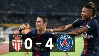 MONACO 0 - 4 PARIS SAINT GERMAIN MATCH REVIEWS
