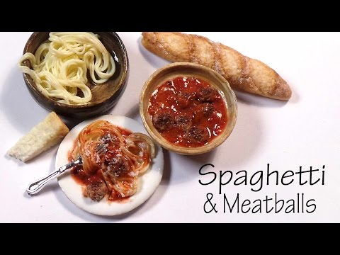 Easy Spaghetti & Meatballs - Polymer Clay Tutorial
