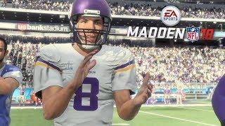 Madden 18 Vikings vs Raiders Gameplay (Super Bowl 52 Presentation) Full Game