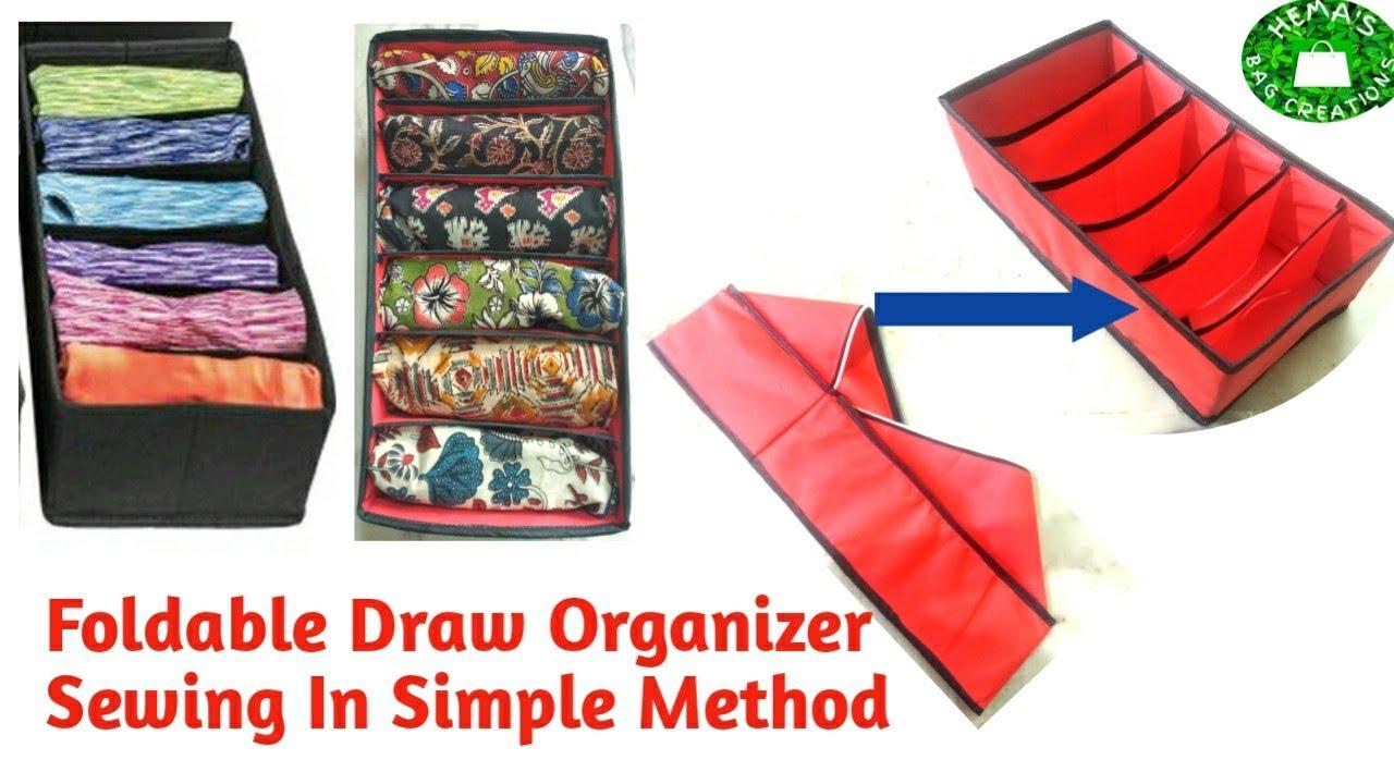 DIY How To Sew Foldable Drawer #Organizer#Storage Box/Multi Purpose Drawer Devider Closet  Organizer