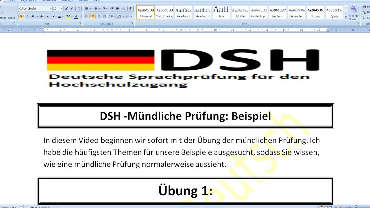 Beispiel Fur Eine Dsh Prufung Pdf Free Download 9