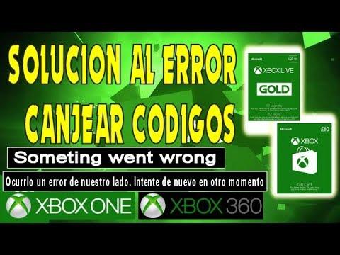 Como solucionar el error de canjear codigos Xbox Live Gold y Gift Card -  One y 360