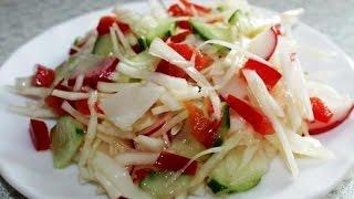 Витаминно-овощной салат из свежих овощей