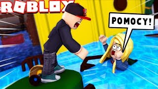 FLOOD IN ROBLOX!!! CAN WE SURVIVE? (Roblox Flood Escape 2) | Vito and Bella