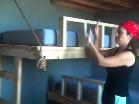Twin Beds Hung from Wall Pt 5  YouTube