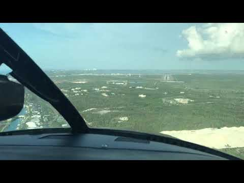 Flying into the Bahamas