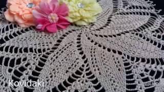 Пошаговое вязание салфетки крючком